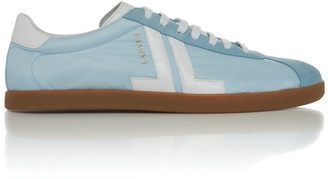 Lanvin Suede and Leather-Trimmed Shell Sneakers