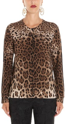 Dolce & Gabbana Animalier Print Cardigan