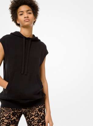 Michael Kors Cotton and Cashmere Sleeveless Hoodie