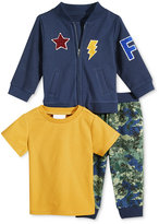 First Impressions Baby Boys' 3-Pc. Jacket, T-Shirt & Pants Set, Only at Macy's