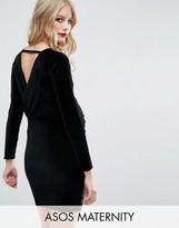 Asos Velvet Mini Dress with Wrap Back