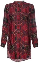 Alexander McQueen mandarin collar pleated tunic