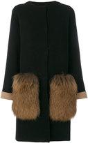 D-Exterior D.Exterior fur pockets coat
