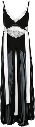 Proenza Schouler pleated Cady sleeveless maxi dress