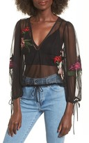 Lovers + Friends Women's Lillian Embroidered Top
