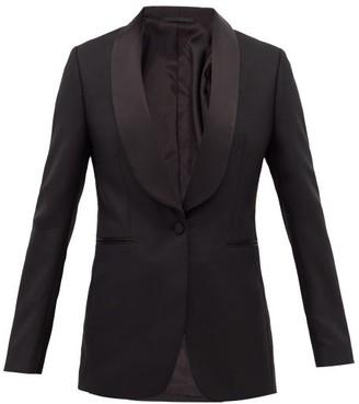 Officine Generale Natalia Single-breasted Wool Tuxedo Jacket - Black