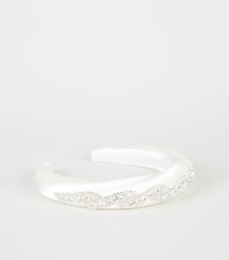 New Look Premium Satin Embellished Wedding Headband