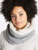 Marks and Spencer Cable Knit Fur Snood Scarf