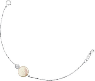 Tous Alecia 18K Diamond & 12.5Mm Pearl Bracelet