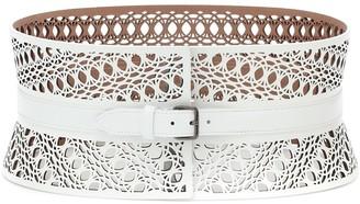 Alaia Leather corset belt