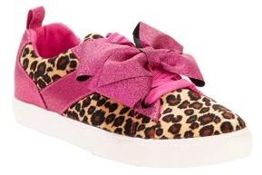 Jo-Jo Jojo Siwa Girls' Leopard With Bow Low-top Sneakers