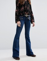 Lovers + Friends Bailey Flare Jeans with Zips