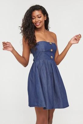Ardene Strapless Mini Denim Dress