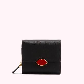 Lulu Guinness Women's Lip Saffie Wallet - Black