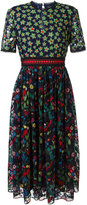 Saloni embroidered tulle dress - women - Polyester - 10