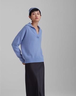 Club Monaco Boiled Cashmere Polo Sweater