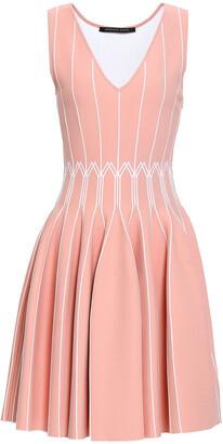 Antonino Valenti Flared Stretch-knit Mini Dress