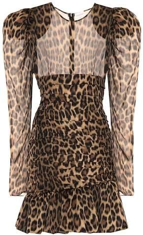 Magda Butrym Borneo leopard silk dress