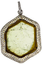 Loree Rodkin 18K Tourmaline & Diamond Pendant