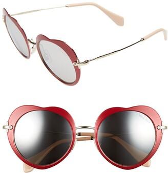 Miu Miu 52mm Irregular Heart Sunglasses