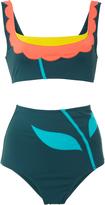 Laura Urbinati Floral Color Block Bikini Set