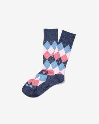 Express Multi Diamond Argyle Dress Socks