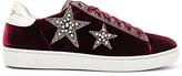 Lola Cruz Star Velvet Sneaker