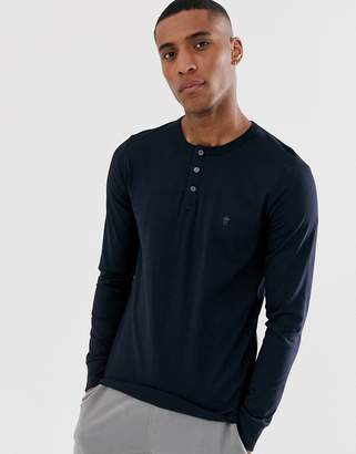 French Connection long sleeve grandad neck long sleeve top-Green