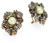 Heidi Daus Bouquet of Beauty Swarovski Crystal & Multicolor Rhinestone Button Earrings