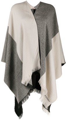 Twin-Set Oversized Colour-Block Blanket Scarf
