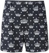 Dolce & Gabbana crown print swim shorts - men - Cotton - 3