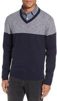 Nordstrom Men's Colorblock V-Neck Cotton Sweater