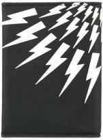 Neil Barrett lightning bolt print wallet