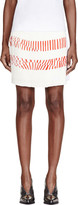 Maiyet White Silk Printed Pleated-paneled Skirt