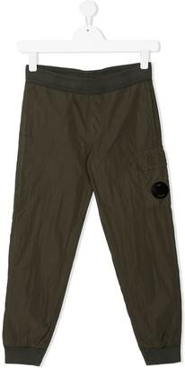 C.P. Company Kids Goggle Cargo Pocket Track Pants