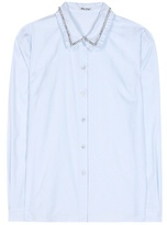 Miu Miu Crystal-embellished cotton shirt