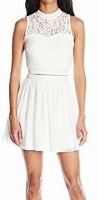 Speechless Women's Lace and Chiffon Two-Piece Dress
