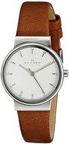 Skagen Women's SKW2192 Ancher Quartz 3 Hand Stainless Steel Dark Brown Watch