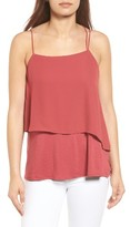 Vince Camuto Women's Popover Mixed Media Tank