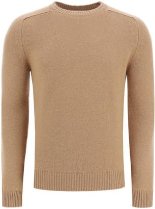 Saint Laurent CAMEL WOOL SWEATER L Beige Wool