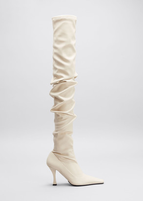 Proenza Schouler 90mm Ruched Thigh-High Boots