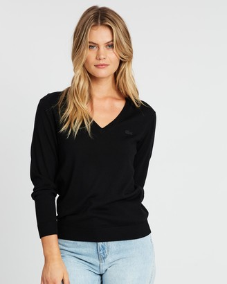 Lacoste Classic Wool V-Neck Knit