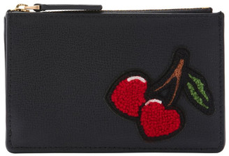 Lulu Guinness Black Lottie Zip Top Pouch