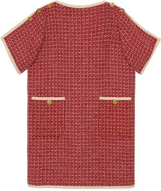 Gucci Logo Print Shift Dress