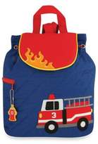 Stephen Joseph Fire Truck Quilted Backpack in Blue