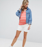 Mama Licious Mama.licious Mamalicious Over The Bump Denim Shorts