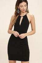 Lush All That Black Bodycon Dress
