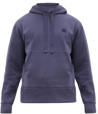 Acne Studios Ferris Face Cotton Hooded Sweatshirt - Mens - Blue