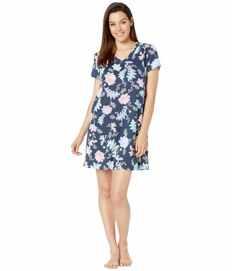 Karen Neuburger Women's Pajama Short Sleeve Pj Sleepdress