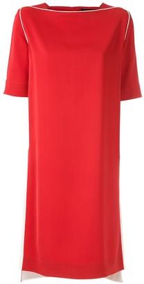 Gloria Coelho Contrasting Side Straps Dress